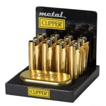 Clipper Gold Metal Clipper Lighter In Gift Tin