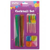 Jaunty Partyware Cocktail Set - 20 Pieces