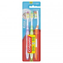 Colgate Extra Clean Medium Toothbrush - Pack Of 3