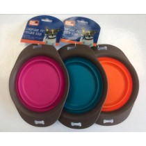 Pet Touch Collapsible Pet Feeding Bowl - 20.5 x 15.5cm - Assorted Colours