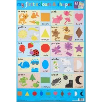 My First Colours & Shapes Wall Chart / Poster - 76cm x 52cm