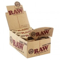 Raw Natural Unrefined Cone Tips - 32 Tips Per Booklet - Box Of 24