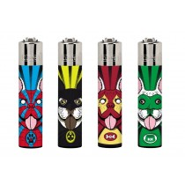 Clipper Classic Large Reusable Lighters - Super Dogs - Assorted Colours & Designs