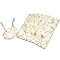 The Celebration Collection Gift Wrapping Paper Set - Cream And Roses Design