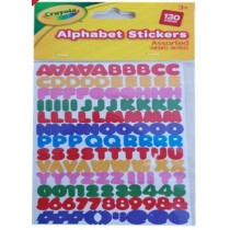 Crayola Alphabet Stickers - Assorted Colours - Pack of 130 Pieces