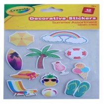 Crayola Decorative Summer Stickers - Assorted Stickers - Pack of 12