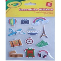 Crayola Decorative Travel Stickers - Assorted Stickers - Pack of 12