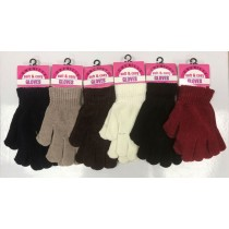 Chenille Soft & Cosy Ladies Gloves - Assorted Colours - One Size