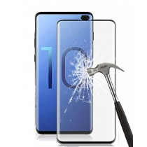 Samsung S10 Plus 5D Curved Edge Premium Tempered Glass Mobile Phone Glass Screen Protector - Black