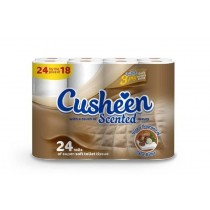 Cusheen Quilted Shea Butter Scented Toilet Paper Roll - 3 Ply - Pack Of 24