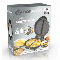 Daewoo Deep Fill Omelette Maker with 2 Years Warranty - 24.5 x 20.5 x 11.5cm