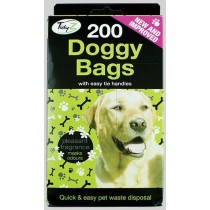 Scented Doggy Bags With Easy Tie Handles - Pack Of 200
