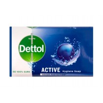 Dettol Active Anti-Bacterial Hygiene Bar Of Soap - Dermatologically Tested - 175G - Exp: 08/22