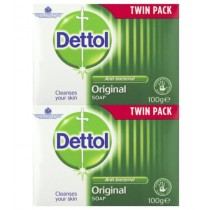 Dettol Original Anti-Bacterial Bar Of Soap - Dermatologically Tested - 2 x 100G - Exp: 07/22