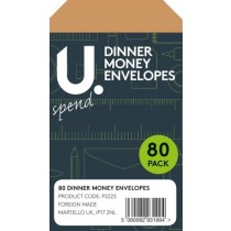 Dinner Money Envelopes - Brown - Pack Of 70