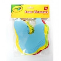 Crayola Foam Dinosaurs - Assorted Colours - For Ages 3+ - Pack of 20