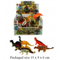TOY ANIMALS OF THE WORLD DINOSAURS SERIES - ASSORTED SIZES, SHAPES AND COLOURS