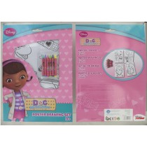 Disney Junior - Doc Mc Stuffins Art Set - 3 Assorted Designs