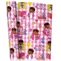 Disney Junior Doc Mcstuffins Gift Wrapping Paper - 2M X 69Cm