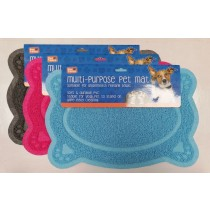 Pet Touch Multi-Purpose PVC Pet Mat - Oval Paw - 40 x 26cm - Assorted Colours