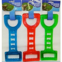 RUBBER CHEW TUGGER TOY FOR DOGS - 27.5cm - COLOURS MAY VARY