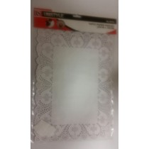 Unistyle Paper Doilies - 25Cm X 35Cm - Pack Of 16