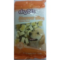 DROOLS CHICKEN FLAVOUR MARROW BITES TASTY DOG TREATS - 180g
