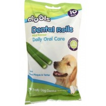 DROOLS DENTAL ROLLS FOR PET DOGS - MINT FLAVOUR - PACK OF 10