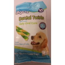 Drools Dental Twirls For Pet Dogs - Mint Flavour - Pack Of 10