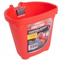 Dekton Painters Buddy with Magnetic Brush Holder - Red - 1 Litre