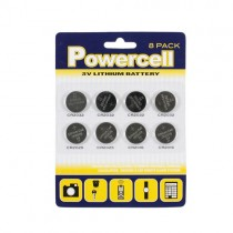 Powercell 3V Lithium Batteries -  Pack Of 8