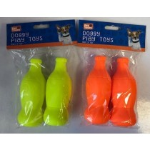 Pet Touch - Squeaky Doggy Play Toy Bottle - Colours Vary