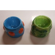Crater Pod Egg Cup - Blue Or Green - Colours May Vary