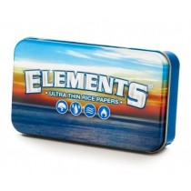 Elements Ultra Thin Rice Paper - 2 Oz Metal Tobacco/Stash Tin