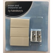 Eraser & Sharpener Set by Sainsbury's - Pack of 5