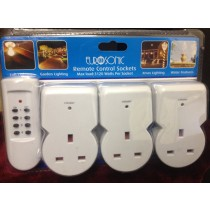 EUROSONIC REMOTE CONTROL SOCKETS - PACK OF 3