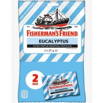 Fisherman's Friend - Eucalyptus - Extra Frische Menthol - Pastillen - 2 x 25 Grams - Pack of 2