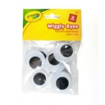Crayola Wiggly Eyes - 40mm - For Ages 3+ - Pack of 8