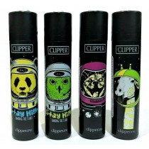 Clipper Classic Large Reusable Lighters - Funny Animals 4 - Assorted Colours & Designs