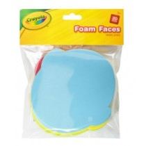 Crayola Foam Faces - Assorted Colours - For Ages 3+ - Pack of 20