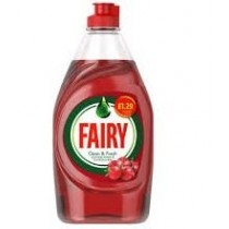 Fairy Washing Up Liquid - Clean And Fresh - Pomegranate And Honeysuckle - 433ml - RRP £1.29