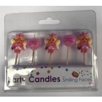 Fairy Princess Cake Candles - Assorted Shapes - Pack of 5