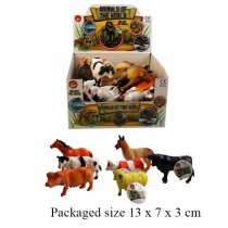 Toy Animals Of The World - Farm Animals Series - Assorted Shapes, Sizes And Colours