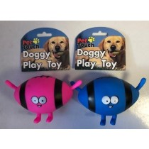 Pet Touch - Squeaky Doggy Play Toy Alien Cartoon - Colours Vary
