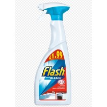 Flash 3-in-1 Cleaner Spray with Bleach - 500Ml - Price Marked £1.99
