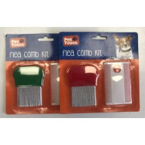Pet Touch Flea Comb Kit - Colours May Vary