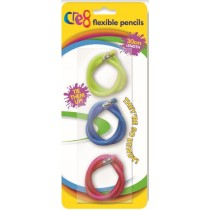 Cre8 Flexible Pencils - 30Cm - Pack Of 3 - Assorted Colours