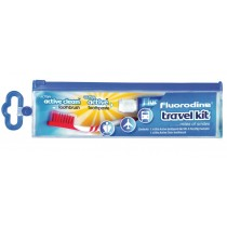 Fluorodine Travel Kit - Toothbrush And Toothpaste In Travel Wallet