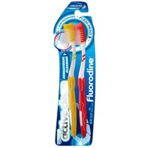 FLUORODINE ULTRA ACTIVE CLEAN FLEX PERFORMANCE TOOTHBRUSH - MEDIUM - ASSORTED COLOURS - PACK OF 2