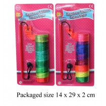 Toy Rainbow Ribbon Baton Flyer - Over 100Cm Of Ribbon & Adjustable Cord